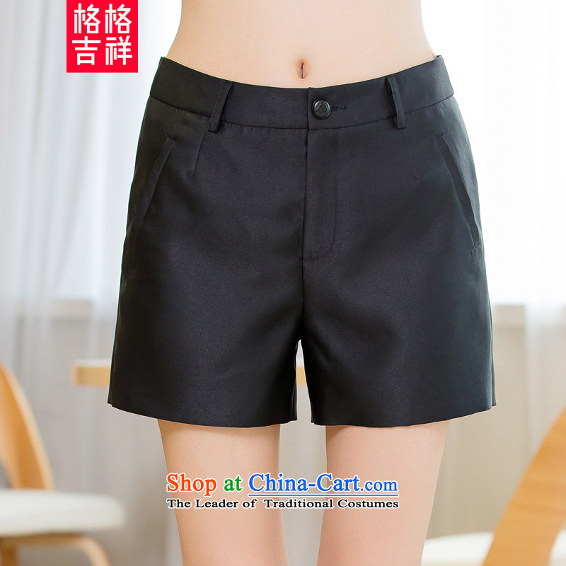 The interpolator auspicious�15 to increase the number of women with new summer thick mm video thin casual women Sau San's shorts X5522 black燣