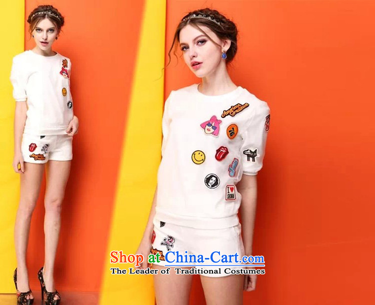 Mr Hui 2015 summer products new Korean version of fat mm larger women's shorts, short-sleeved to loose the two piece graphics thin T-shirt Kit 602 White XXL picture, prices, brand platters! The elections are supplied in the national character of distribution, so action, buy now enjoy more preferential! As soon as possible.
