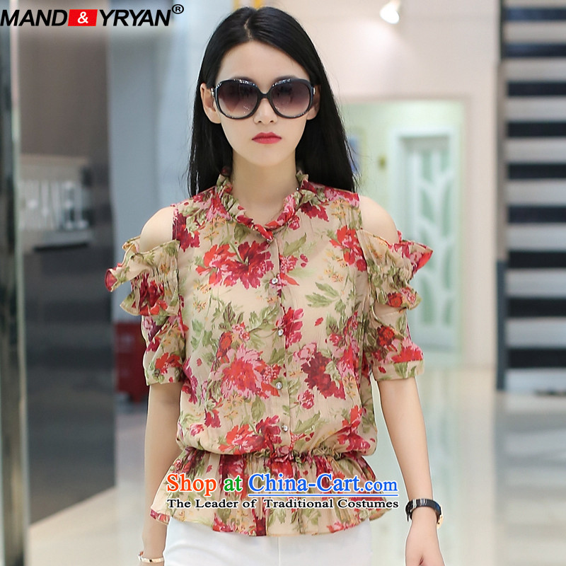 Mantile en Code women's summer to intensify the thick sister thin stylish loose-video rotator cuff stamp T-shirt figure _MDR1628 XXL135-145 around 922.747