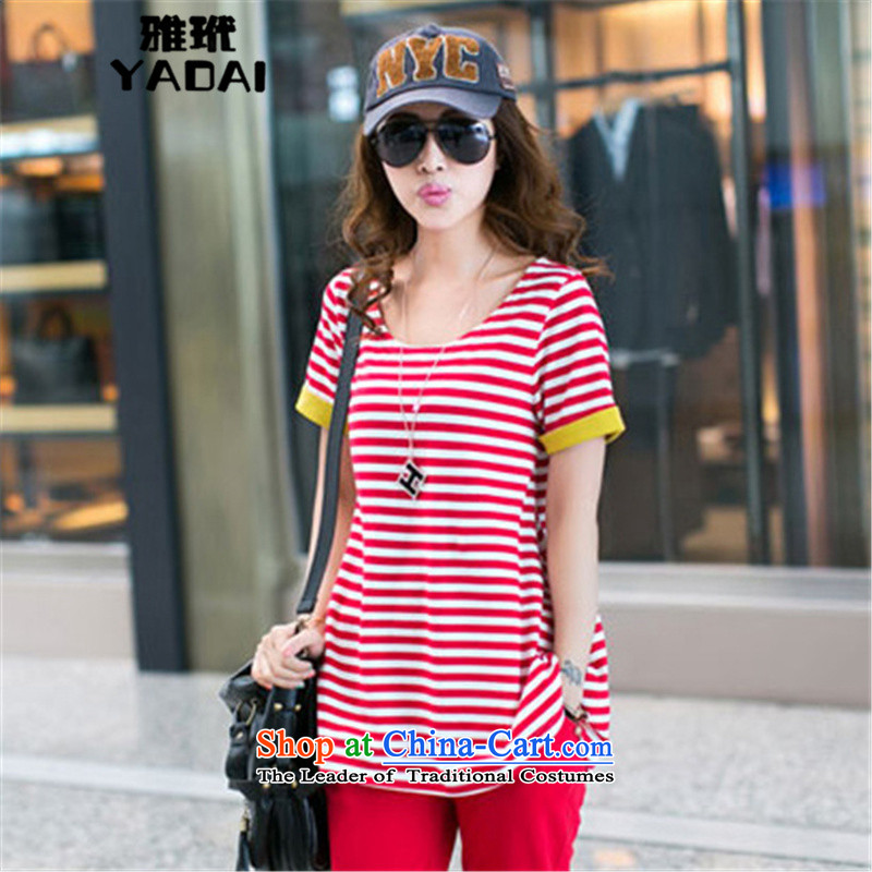 The Korean version of the nga toi 2015 Women's sister loose short-sleeved thick to increase women's sports and leisure code t-shirt Kit� 029爎ed燲XL