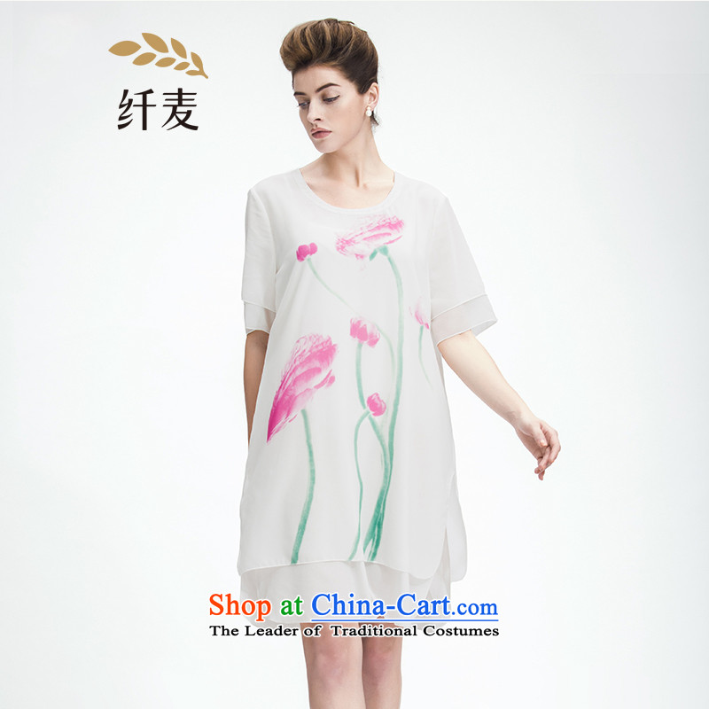 The former Yugoslavia Migdal Code women 2015 Summer new mm thick and stylish look double chiffon dresses 952103253 White�L