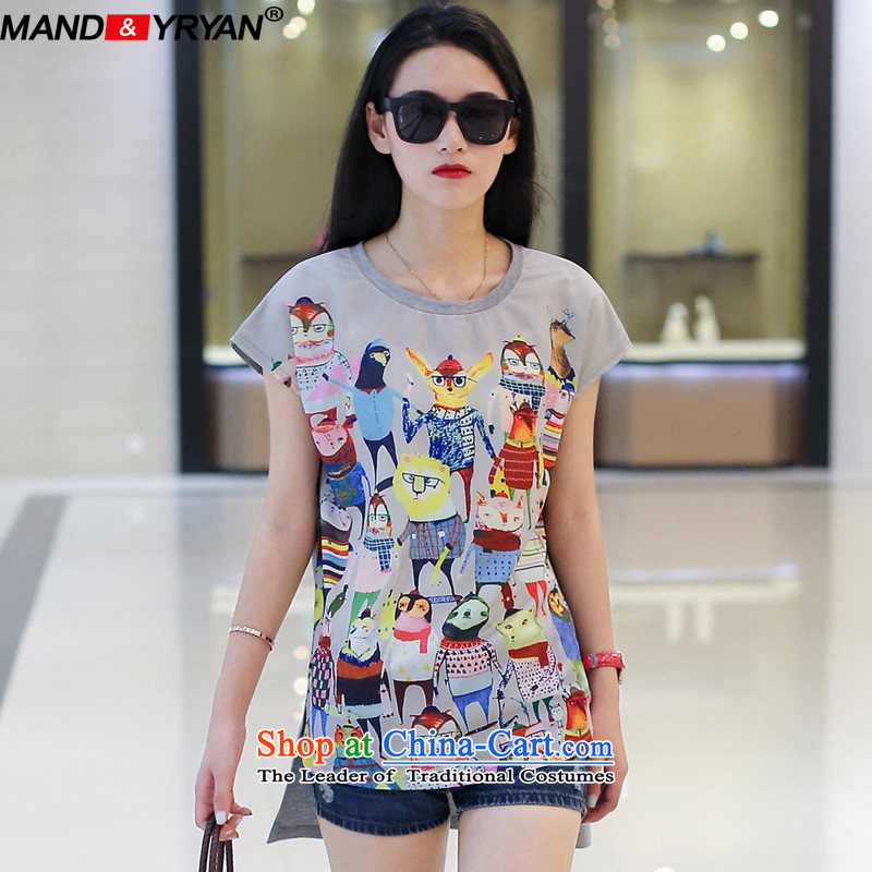 Mantile en code T-shirts for summer short-sleeved round-neck collar Stamp front stub does not long after the rules a T-shirt _MDR1799 XL110-130 figure around 922.747