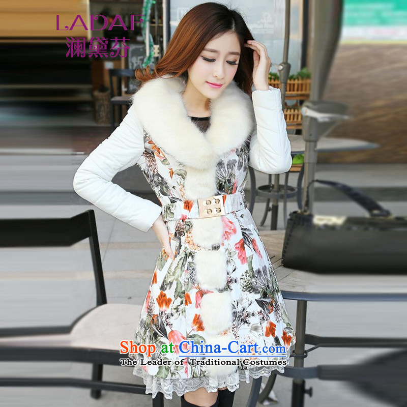 The world by 2015 Autumn Load Stephen Doi new Korean version, down cotton coat girl in long sheep fur women PU 6,648 new picture color燬