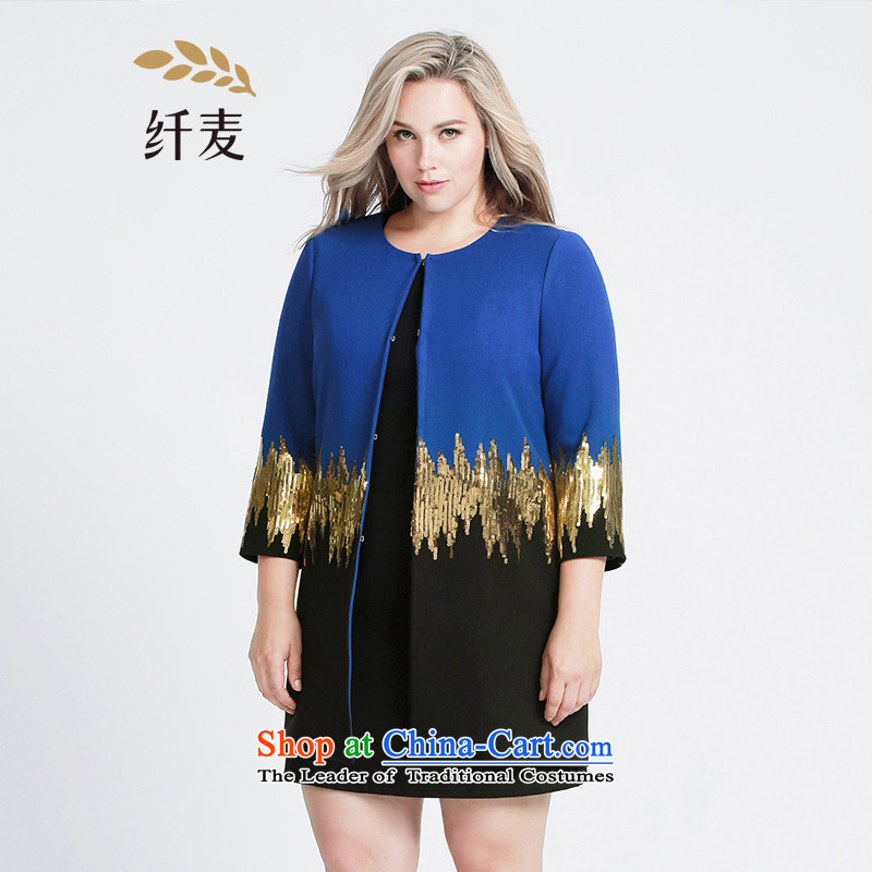 The former Yugoslavia Migdal Code women 2015 Autumn replacing new stylish light slice mm thick collage in long jacket, dark blue4XL 953044510 knocked