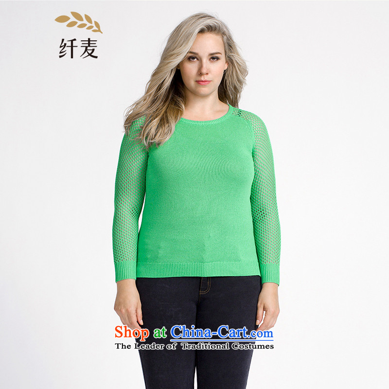 The former Yugoslavia Migdal Code women 2015 Autumn replacing new stylish mm thick stitching Mesh thin and light sweater 953133233 green XL