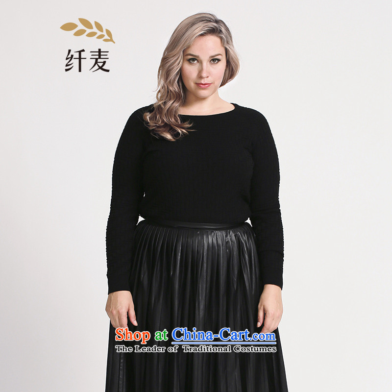 The former Yugoslavia Migdal Code women 2015 Autumn replacing new stylish mm thick simple pattern wild sweater 953133231 Black燲L