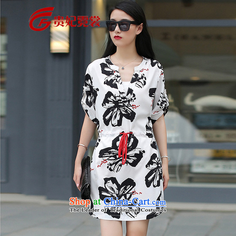 Gwi Tysan 2015 XL Women's Summer new thick mm200 catty stamp A skirt butterfly larger Sau San dresses Z1676 suit�L