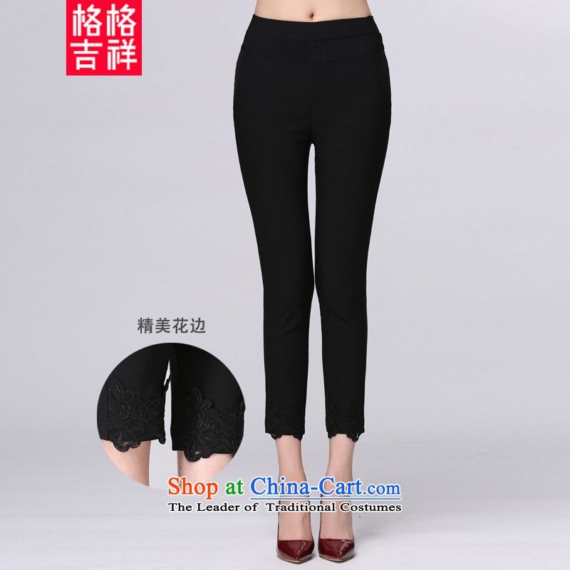 The interpolator auspicious?2015 to increase the number of women with new stretch of the fall of 9 mm thick Sau San video trousers thin stylish casual wear trousers 998 wild black trousers 9?XL