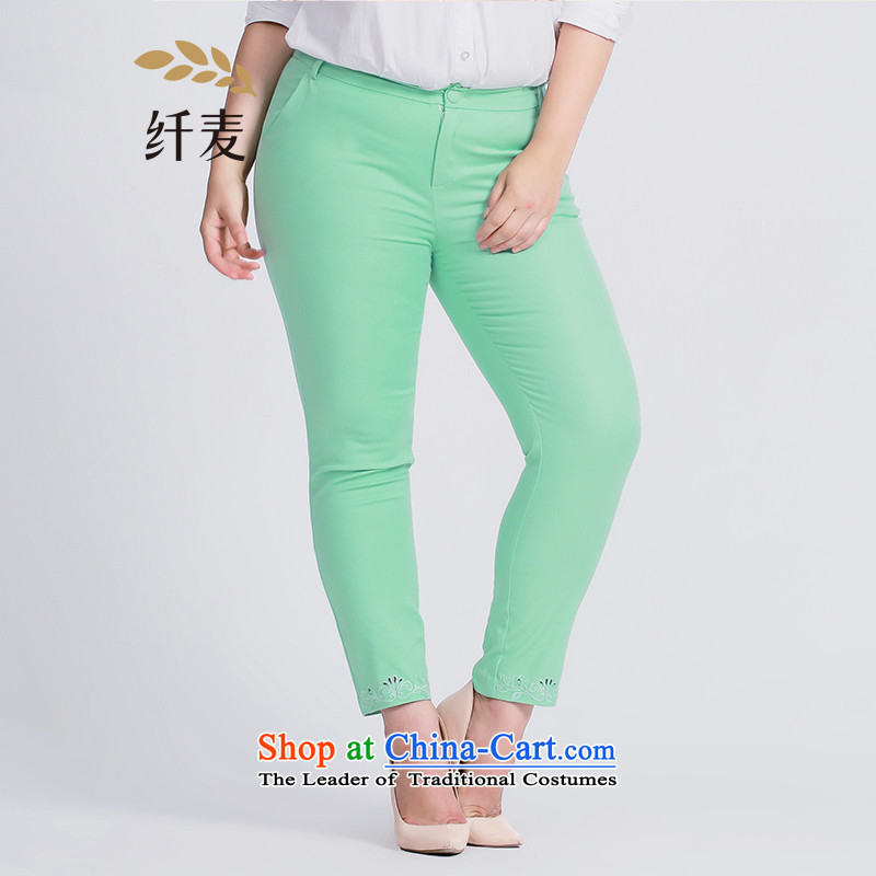 The former Yugoslavia Migdal Code women 2015 Autumn replacing the new mm thick and stylish pant legs engraving candy colored trousers�3091859爓ater green�L
