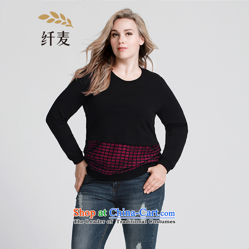 The former Yugoslavia Migdal Code women 2015 Autumn replacing new stylish mm thick engraving knocked color leisure sweater�3083086燽lack spell of Red�L