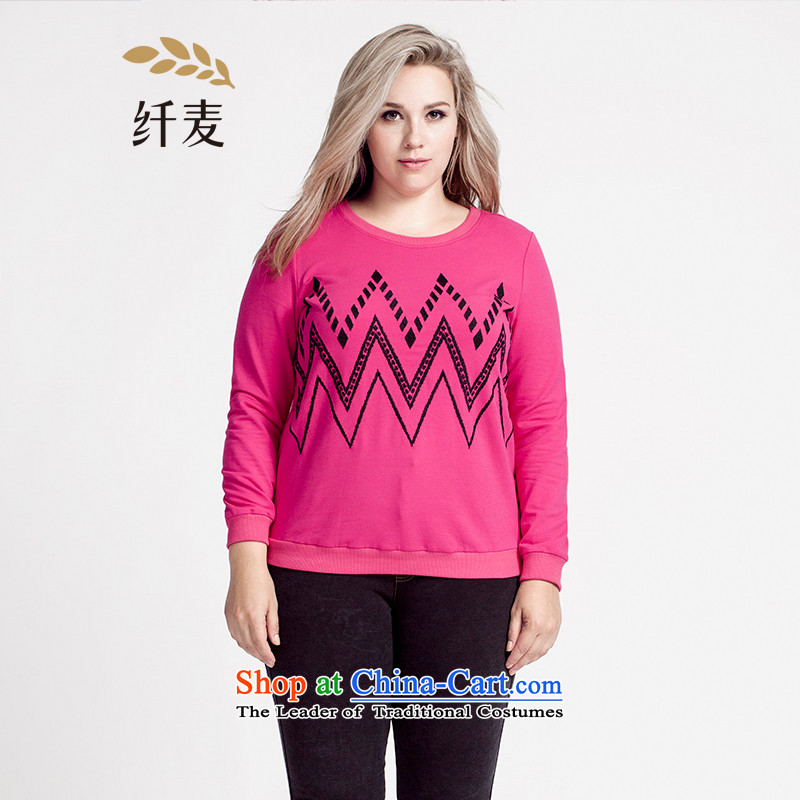 The former Yugoslavia Migdal Code women 2015 Autumn replacing the new mm thick stylish classic tattoo W embroidery multi-color sweater 953083084 in Red�L