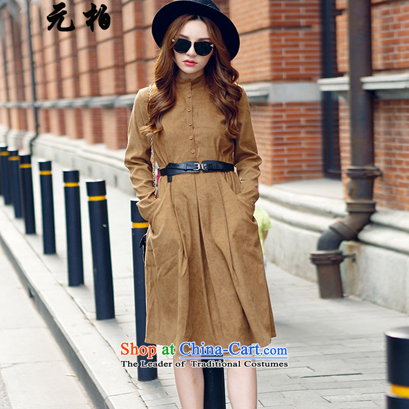 In Pak larger women 2015 Autumn-mounting the new Fat MM dresses western style long-sleeved shirts khaki 2550 2XL around 922.747 Paras. 135-145