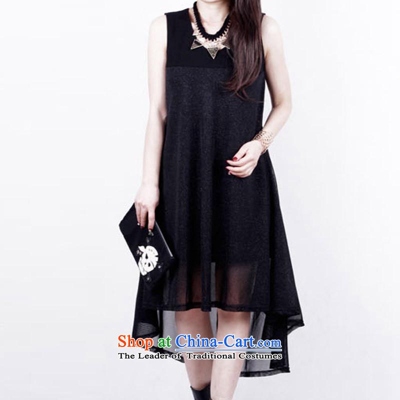 Billion to create the xl summer western dress loose short-sleeved engraving lace A women's skirt wear blackXXXXL 200 catties