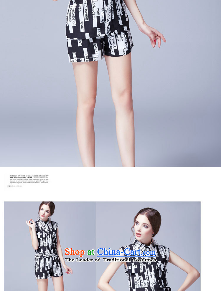 Mr Hui2015 summer products new Korean version of fat mm larger women's sleeveless T-shirt stamp thin Video + belt loose shorts two Kit259picture color rushed lap5XL picture, prices, brand platters! The elections are supplied in the national character of distribution, so action, buy now enjoy more preferential! As soon as possible.