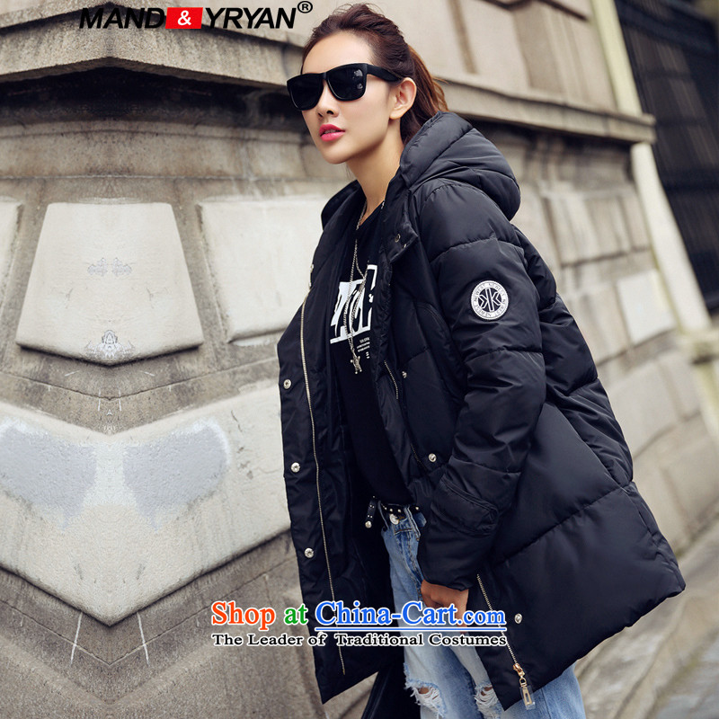 Mantile en code women ãþòâ female mm200 thick winter clothing Korean catty warm relaxd feather cotton coat in long robe jacket MDR906 XXXL150-160 figure around 922.747