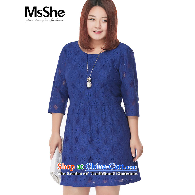 To increase the number msshe women 2015 new autumn 200catty lace elegant dresses 4002 Blue燲L