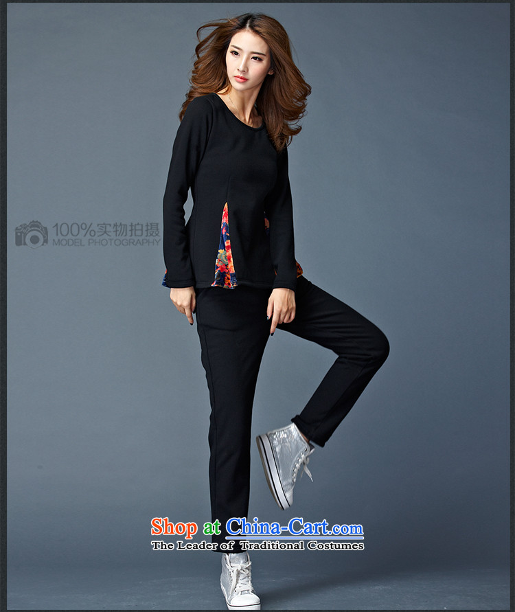 Elisabeth Kosovo's 2015 Fall/Winter Collections new to increase women's code is not down the lint-free thickened lint-free warm two leisure sweater Kit 8802 Black  4XL recommendations 165-180 catty picture, prices, brand platters! The elections are supplied in the national character of distribution, so action, buy now enjoy more preferential! As soon as possible.