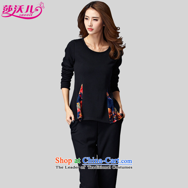 Elisabeth Kosovo's 2015 Fall_Winter Collections new to increase women's code is not down the lint-free thickened lint-free warm two leisure sweater Kit聽8802聽Black聽 4XL聽recommendations 165-180 catty