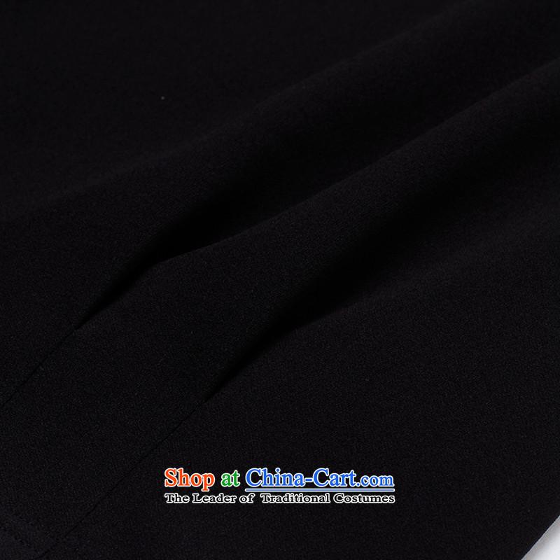 The former Yugoslavia Li Sau 2015 autumn large new mount female stylish engraving round-neck collar retro stamp long-sleeved stitching lace aristocratic ladies video thin coat 0088-22-7890black2XL, Yugoslavia Li Sau-shopping on the Internet has been pressed.