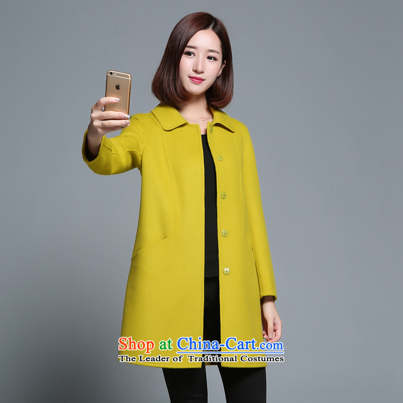 The Polar ice (JIDIXUE) new two-sided) fall? woolen coat female gross butted? Long JDX15Q005 GREEN M