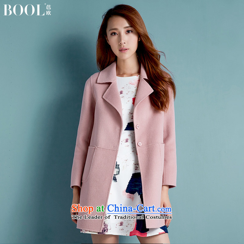 Barbara Euro 2015 autumn the new President won version hand-double-side jacket? gross long woolen coat and pink燬