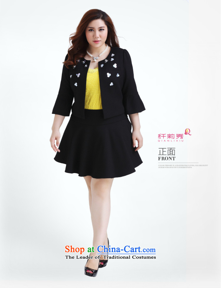 The former Yugoslavia Li Sau 2015 autumn large new mount female round-neck collar stereo nail pearl horn cuff western short jacket, black5XL Q0219 picture, prices, brand platters! The elections are supplied in the national character of distribution, so action, buy now enjoy more preferential! As soon as possible.