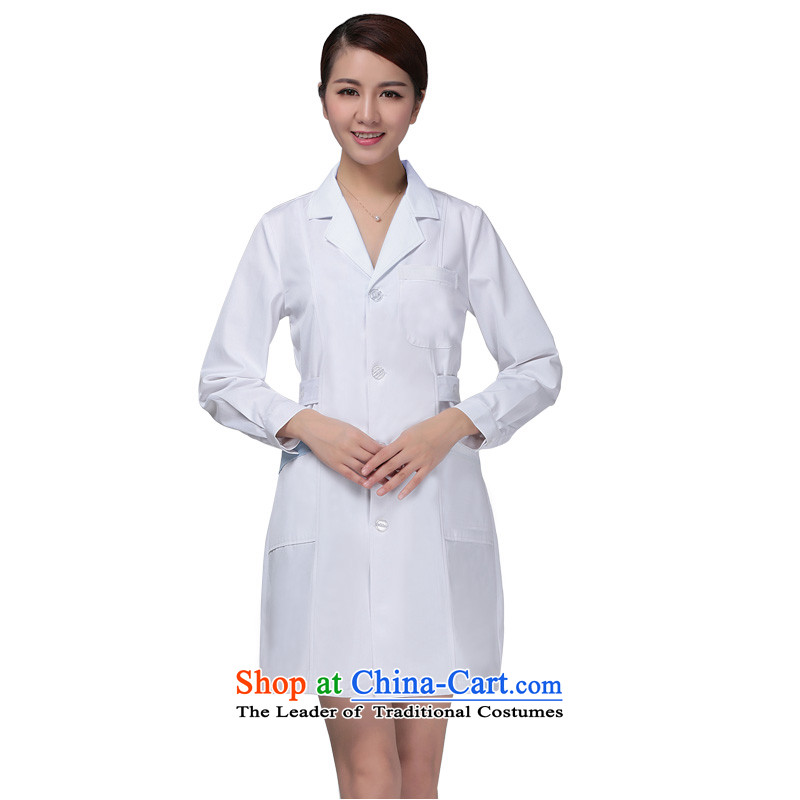 Ducept Nga winter white gowns thick long-sleeved male doctors serving women interns nurse uniform clothing female - pure pharmacies white with a lumbar聽S