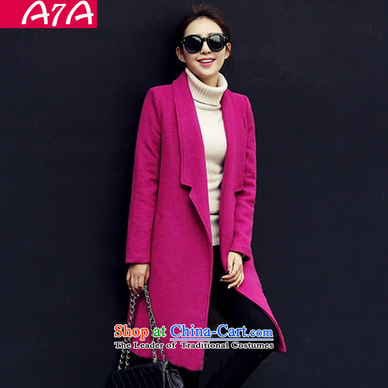 A7a2015 autumn and winter new gross jacket Korean?   in temperament long thick a wool coat girl Michelle in red L 468 temperament video thin