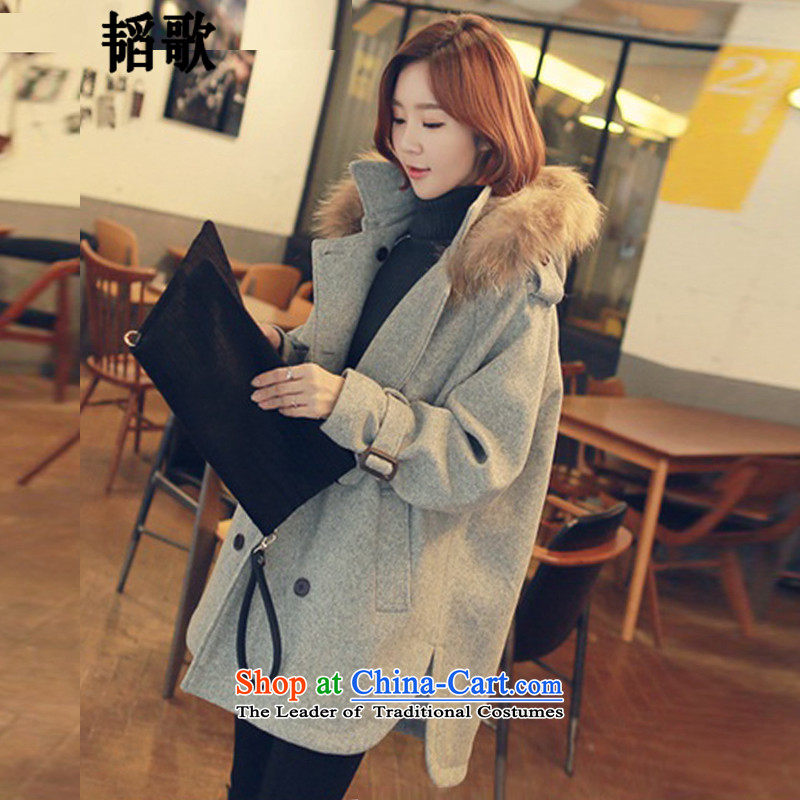 Song Tao thick mm to increase women's code, autumn and winter new sleek hair for long coats_?? jacket燣Y900 gross XXL135-145 around 922.747