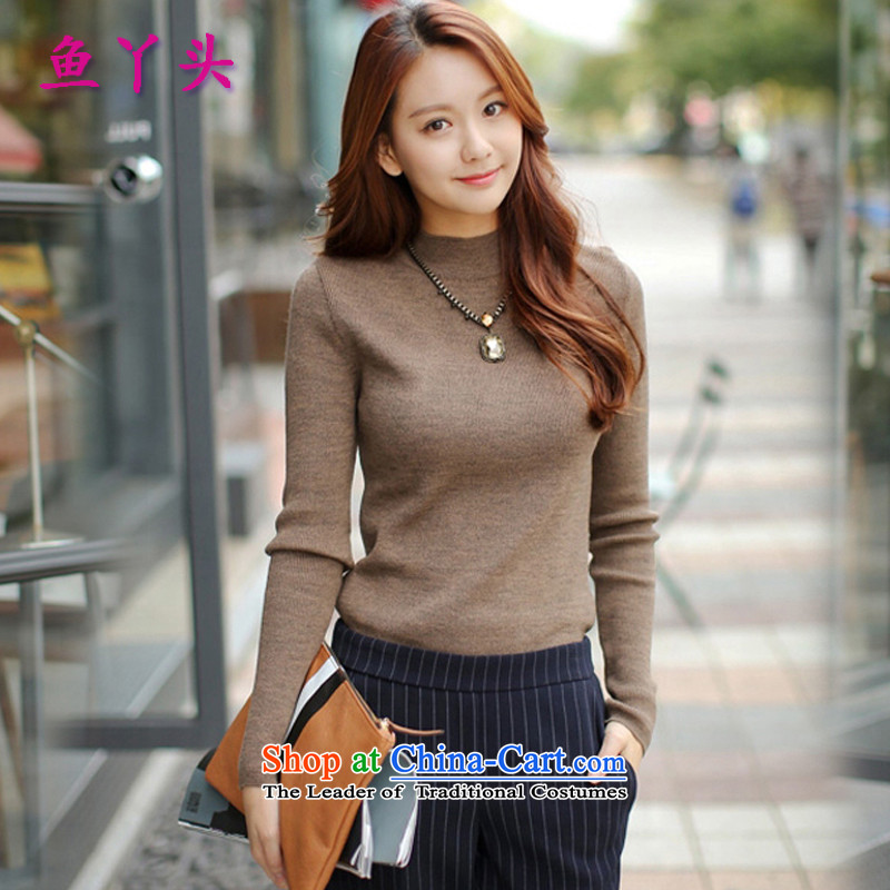 Since2015 autumn and winter fish large long-sleeved blouses and knitwear plus lint-free t-shirt, forming the thick clothes picture color is not the lint-free)Lrecommendations 110-120 catty
