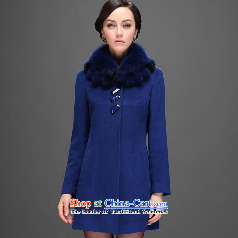 - New Products Urges Hang Yuen Cheung-Boutique Winter 2015 new medium to long term, older women wool coat? a jacket for gross?light blue Tsing?185_104A_XXXXL 3-11A, ASIA