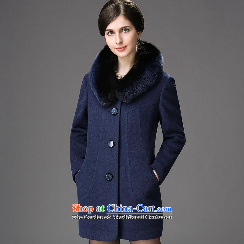New Products ■ Hengyuan Cheung 2015 women in the elderly in the long hair washable wool coat? a coat?mixing?165_88A_L, 3-11A, ASIA
