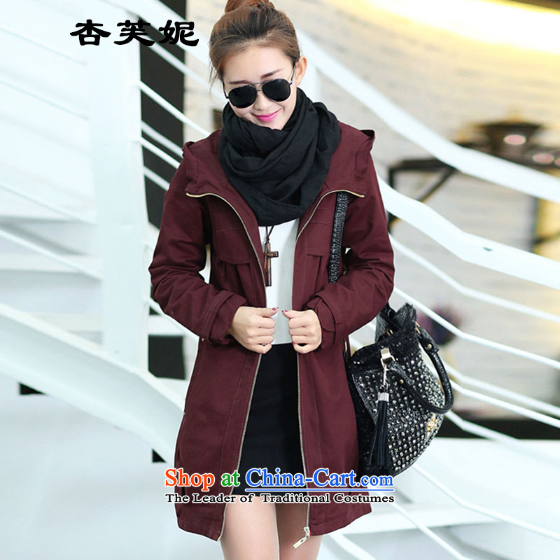All large Daphne women to increase load autumn mother loaded thick sister who fall inside the video thin, thick hair? jacket female wine red XXL125 catty to 140 catties