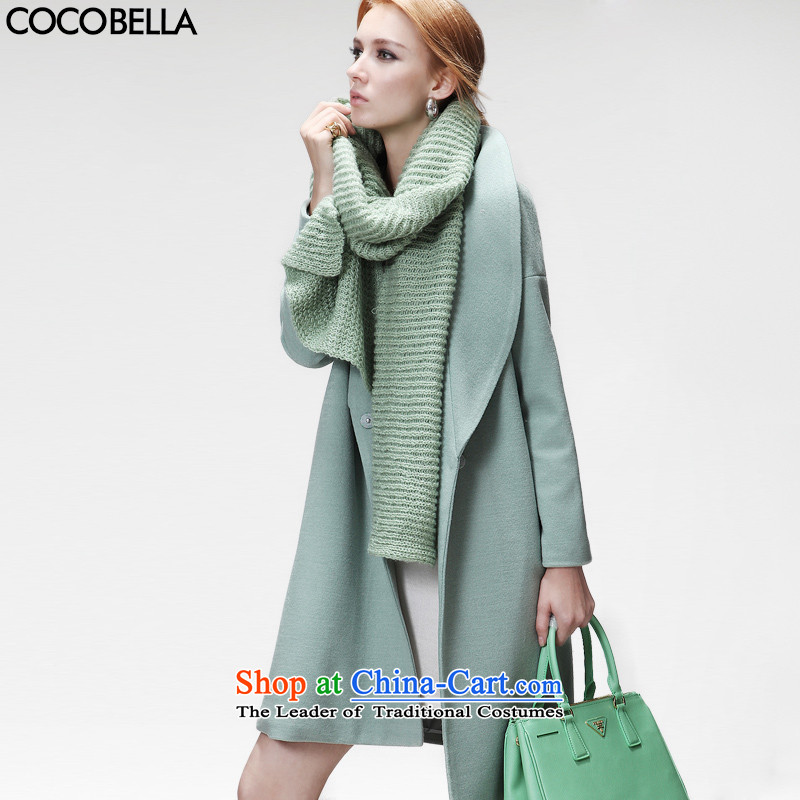 2015 Europe early autumn van COCOBELLA street cocoon-long-coats the auricle gross CT17 female jacket? The Green M