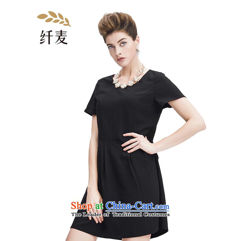 The former Yugoslavia Migdal Code women 2015 Summer new stylish mm thick Top Loin Trim Sau San dresses black�L 952103180