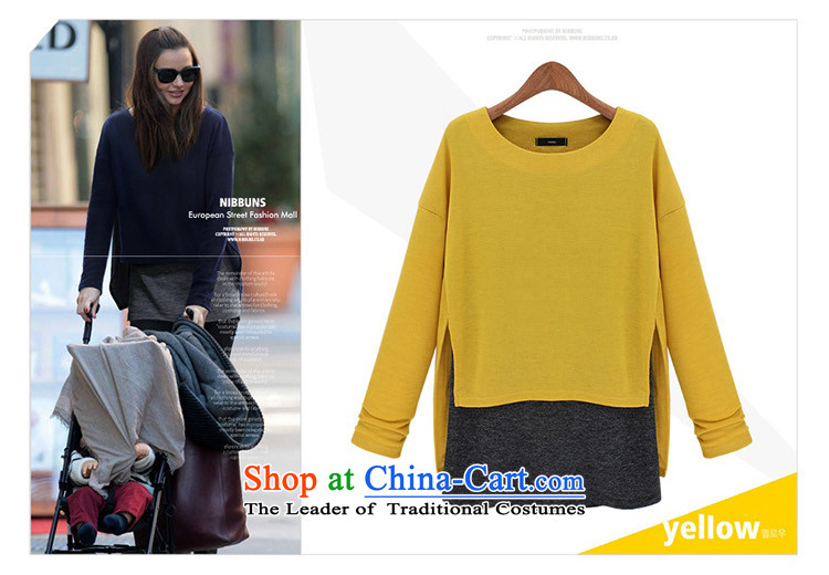 Elizabeth autumn 2015 sub-new products for larger female thick MM female Western Fall/Winter Collections new graphics thin Foutune of false two knitted sweaters K624 YELLOW 5XL T-shirt picture, prices, brand platters! The elections are supplied in the national character of distribution, so action, buy now enjoy more preferential! As soon as possible.