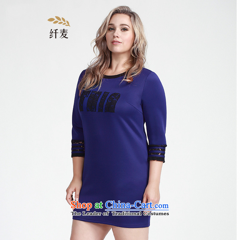 The former Yugoslavia Migdal Code women 2015 Autumn replacing new stylish mm thick letter lace spell a series of dresses�3106270燽lue燲L