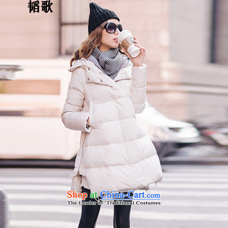 Song Tao of autumn and winter large European and American women's expertise in mm long thin cotton graphics thick cotton coat warm jacket L2596 robe 2XL around 922.747 paras. 135-145.