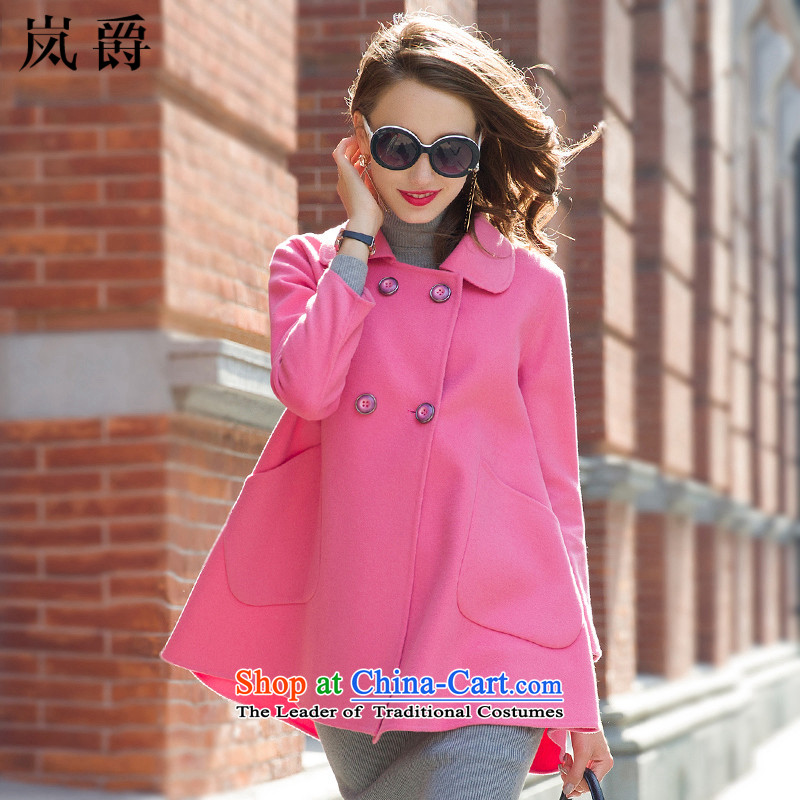 Lord included new Fall 2015 wool female? lapel jacket coat LY8127 sided flannel pink L