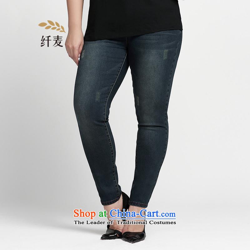 The former Yugoslavia Migdal Code women 2015 Autumn replacing the new fat mm Sleek and versatile jeans�3321850 Sau San燿ark blue�L