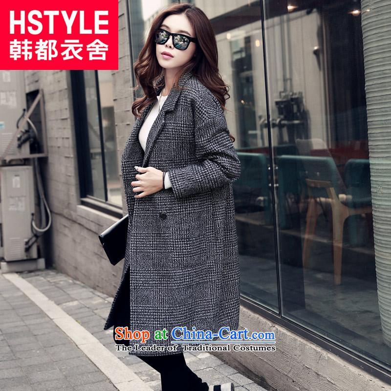 Korea has the Korean version of the Dag Hammarskj鰈d yi 2015 Winter Female new liberal latticed gross MM4925 jacket2燾ompartments?燬