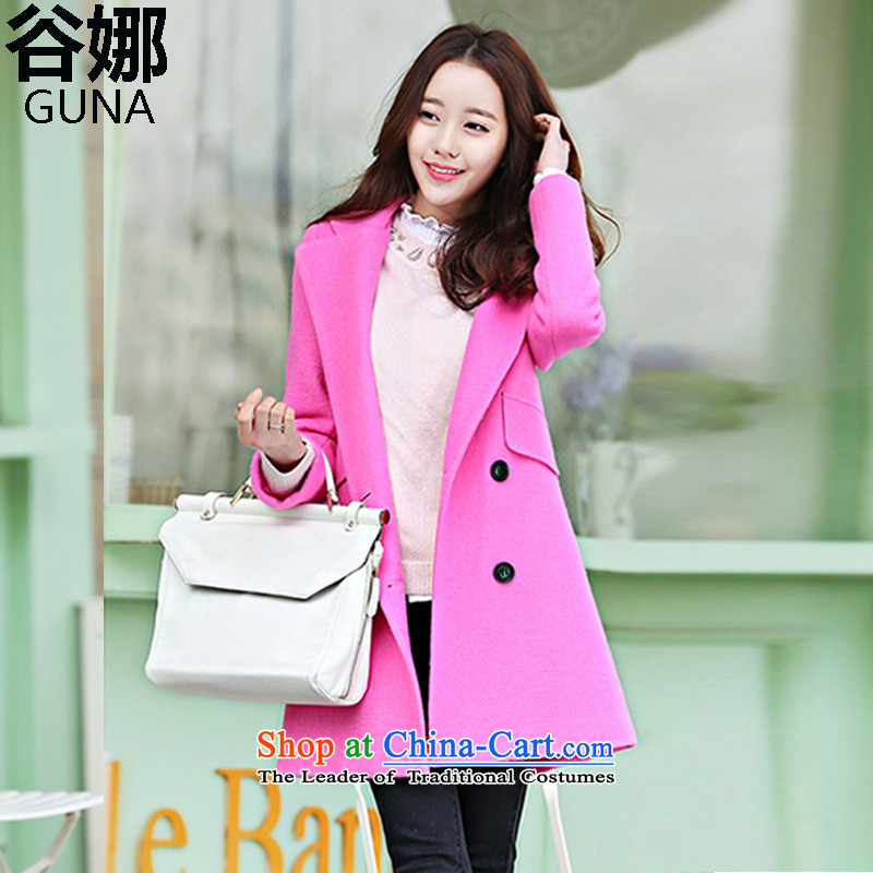 The�15 autumn and winter Valley New_ long hair? coats female double-jacket for larger gross? Korean Modern graphics thin thickened Sau San? Who windbreaker better pink燣