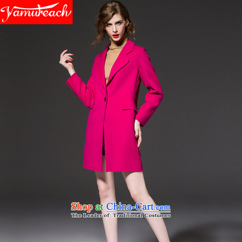 Wool coat women yamureach? 2015 autumn and winter New Sau San? long-sleeved coats-gross cashmere overcoat, long, but the red XL