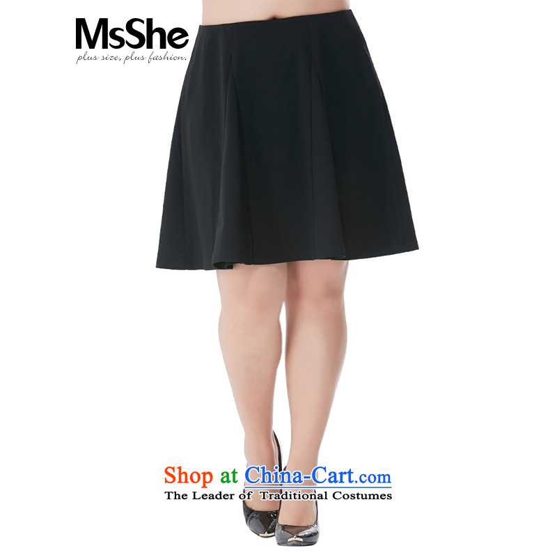 Large Body skirts msshe 2015 wild video thin short skirts larger female聽200 catties thick mma field larger skirts 8462 skirt black聽T5