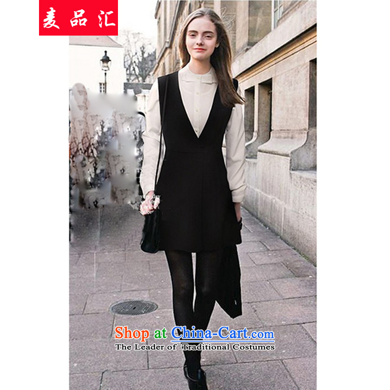 Mr products removals by sinks to xl women fall Kit 200 catties thick mm video thin long sleeved shirt thick sister strap dresses two kits�0燘lack and White燲XL