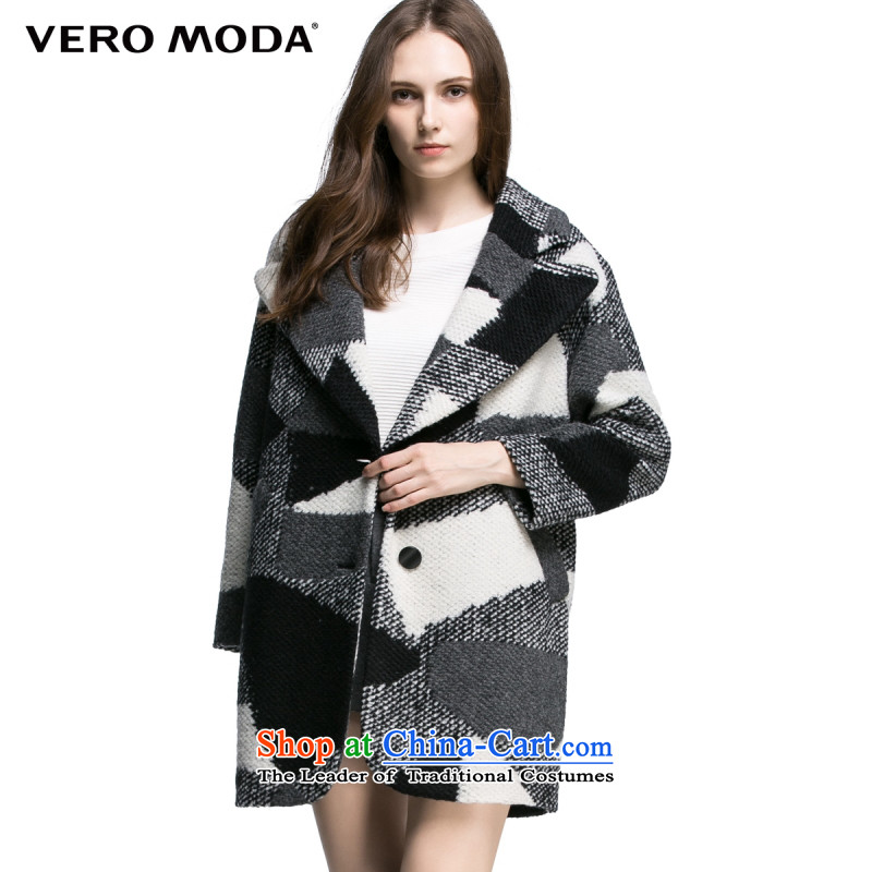 Vero moda plaid leisure suit coats of knitting |315327020 010 Black 160_80A_S