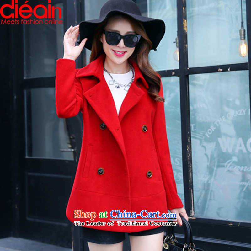Butterfly Angel Connie�15 autumn and winter new Korean version of gross? female�6爈arge red cloak燤