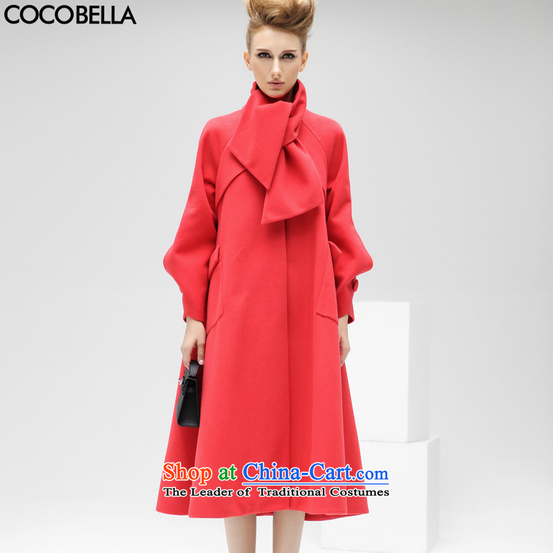 燛urope and the adoption of the van COCOBELLA TYPE A large long hair? jacket CT81 raspberries red燣