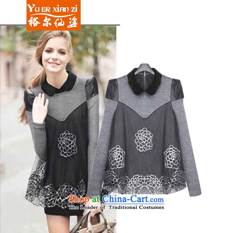 Yu-Sin-to increase women's burden of code 200 mm spring graphics thick thin long-sleeved dresses, forming the spring sister thick clothes female carbon聽4XL recommends that you 160-180 catty