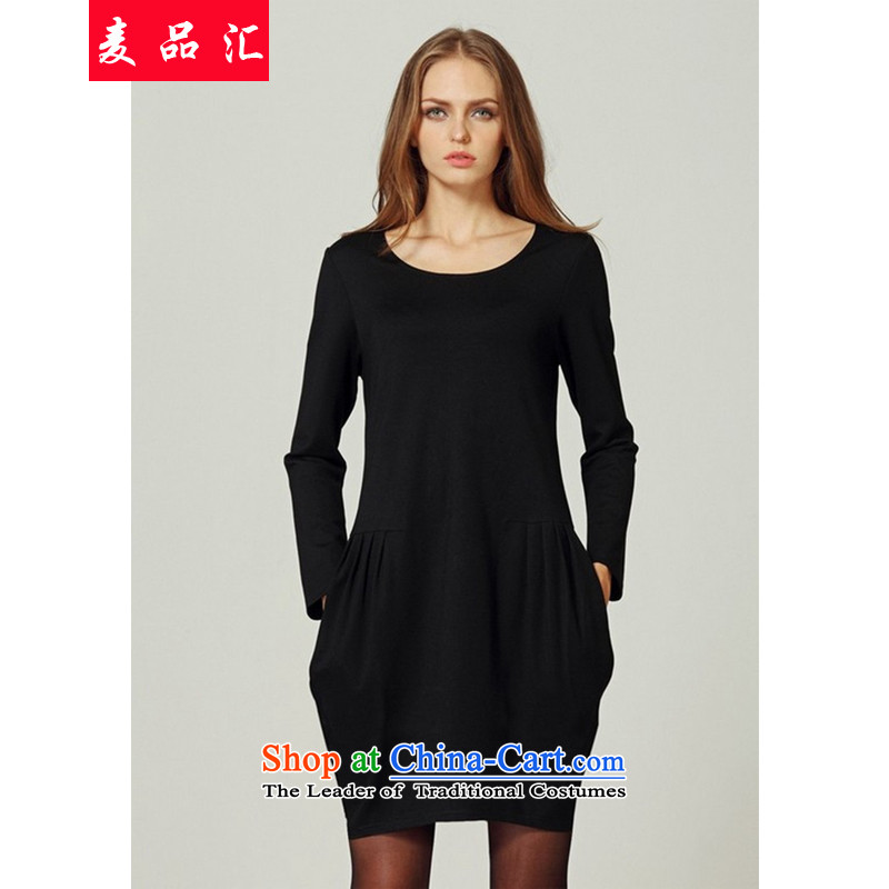Mr Hui�15 to No. xl plus lint-free dresses thick mm Fall_Winter Collections thick sister women wear skirts are overweight video thin 200 catties�3燘lack�L
